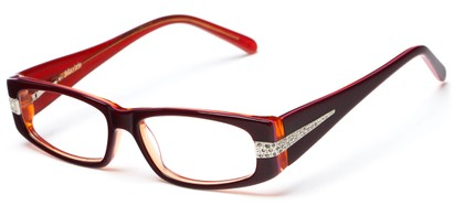 Angle of Adelaide by felix + iris in Crimson + Rose, Women's Rectangle Reading Glasses