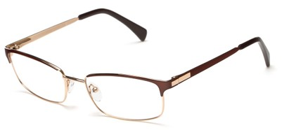 Angle of Adler by felix + iris in Brown + Gold, Women's and Men's Browline Reading Glasses
