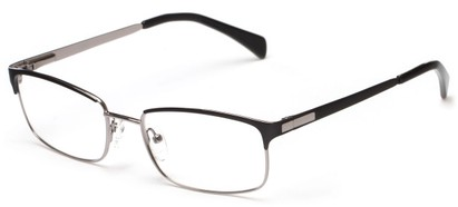 Angle of Adler by felix + iris in Black + Gunmetal, Women's and Men's Browline Reading Glasses