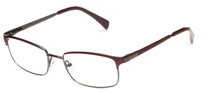 Angle of Adler by felix + iris in Burgundy + Gunmetal, Women's and Men's Browline Reading Glasses