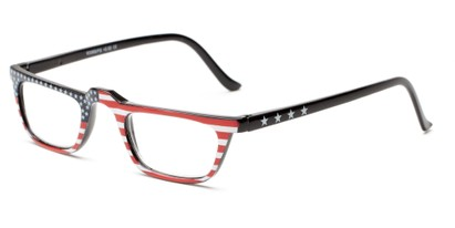 Angle of The Americana in Flag A, Women's and Men's Rectangle Reading Glasses