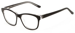 Angle of Ashton by felix + iris in Black, Women's Retro Square Reading Glasses
