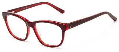 Angle of Ashton by felix + iris in Dark Red, Women's Retro Square Reading Glasses