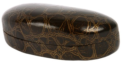 Large Faux Crocodile Glasses Case