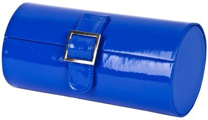Angle of Medium Patent Buckle Case  in Royal Blue, Women's and Men's
