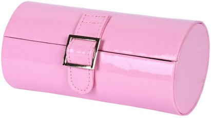 Angle of Medium Patent Buckle Case  in Light Pink, Women's and Men's