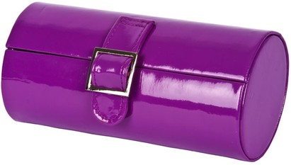 Angle of Medium Patent Buckle Case  in Purple, Women's and Men's