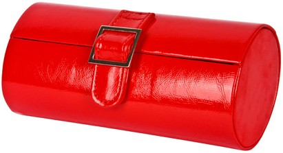 Angle of Medium Patent Buckle Case  in Red, Women's and Men's