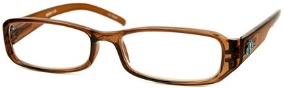 Angle of The Cedar Recycled Reader in Brown, Women's and Men's