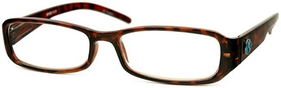 Angle of The Cedar Recycled Reader in Tortoise, Women's and Men's