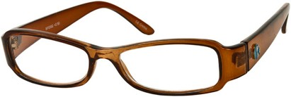 Angle of The Bradford Recycled Reader in Brown, Women's and Men's