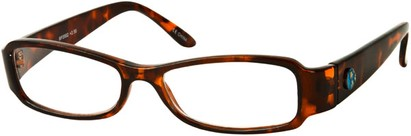 Angle of The Bradford Recycled Reader in Brown Tortoise, Women's and Men's