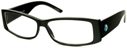 Angle of The Oak Recycled Reader in Black, Women's and Men's
