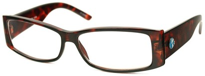 Angle of The Oak Recycled Reader in Tortoise, Women's and Men's