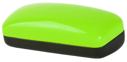 Angle of Large Colorblock Case in Green/Black, Women's and Men's  Hard Cases