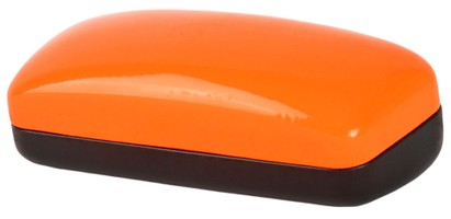 Angle of Large Colorblock Case in Orange/Black, Women's and Men's  Hard Cases