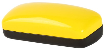 Angle of Large Colorblock Case in Yellow/Black, Women's and Men's  Hard Cases