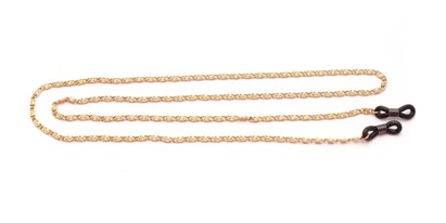 Angle of Baltimore Reading Glasses Chain in Gold, Women's and Men's  Neck Chains