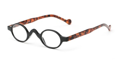 Angle of The Basil in Black/Tortoise, Women's and Men's Oval Reading Glasses