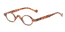 Angle of The Basil in Tortoise, Women's and Men's Oval Reading Glasses
