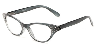 Angle of The Betty in Light Grey, Women's Cat Eye Reading Glasses