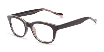 Angle of The Kipling Customizable Reader in Black Fade, Women's and Men's Retro Square Reading Glasses