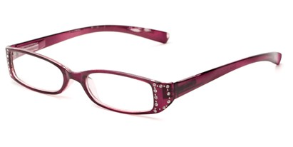 Angle of The Bonnie in Purple, Women's Rectangle Reading Glasses