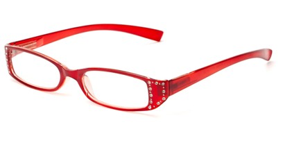 Angle of The Bonnie in Red, Women's Rectangle Reading Glasses