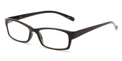 Angle of The Bowman in Black, Women's and Men's Rectangle Reading Glasses