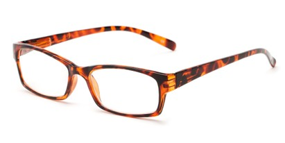 Angle of The Bowman in Brown Tortoise, Women's and Men's Rectangle Reading Glasses