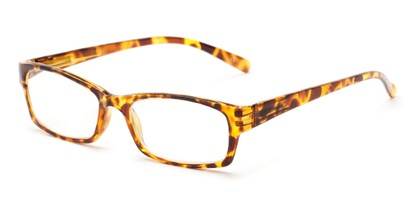 Angle of The Bowman in Yellow Tortoise, Women's and Men's Rectangle Reading Glasses