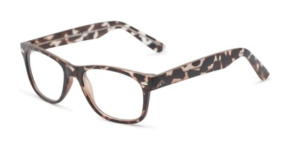 Angle of The Butch Customizable Reader in Matte Tortoise, Women's and Men's Retro Square Reading Glasses