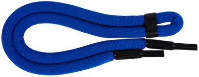 Angle of Neon Sporty Eyewear Retainer Cord in Neon Blue, Women's and Men's  Neck Cords