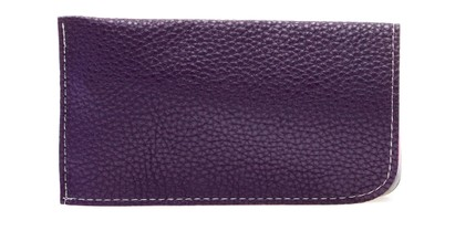 Angle of Faux Leather Expandable Glasses Pouch in Purple, Women's and Men's  Soft Cases / Pouches