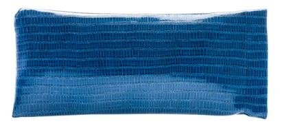 Angle of Faux Exotic Reading Glasses Pouch in Blue, Women's and Men's