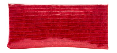 Angle of Faux Exotic Reading Glasses Pouch in Red, Women's and Men's