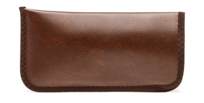 Angle of Large Reading Glasses Pouch in Cognac Brown, Women's and Men's  Soft Cases / Pouches