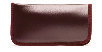 Angle of Large Reading Glasses Pouch in Cherry Brown, Women's and Men's  Soft Cases / Pouches