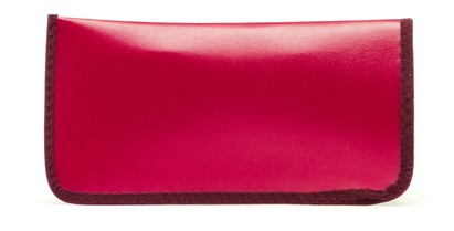 Angle of Large Reading Glasses Pouch in Bright Red, Women's and Men's  Soft Cases / Pouches