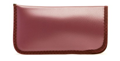 Angle of Large Reading Glasses Pouch in Mauve, Women's and Men's  Soft Cases / Pouches