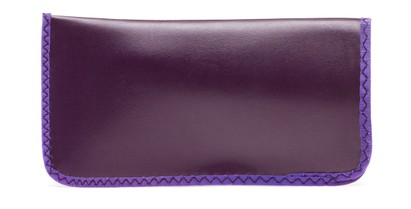 Angle of Large Reading Glasses Pouch in Purple, Women's and Men's  Soft Cases / Pouches