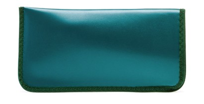 Angle of Large Reading Glasses Pouch in Teal, Women's and Men's  Soft Cases / Pouches