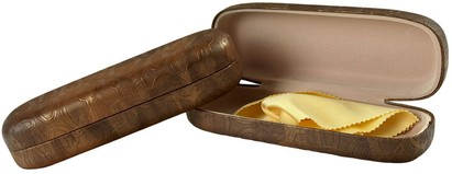 Angle of Ombré Reading Glasses Case #1095 in Tan, Women's and Men's