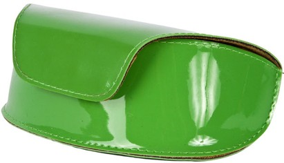 Angle of Large Patent Case  in Lime Green, Women's and Men's