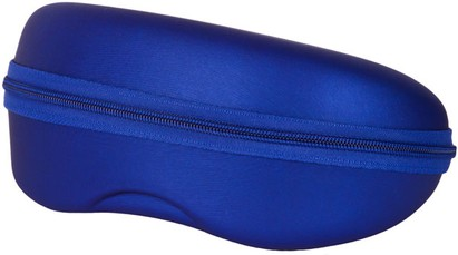 Blue Zip Shut Glasses Case
