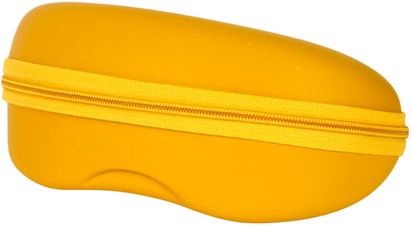 Yellow Zip Shut Glasses Case