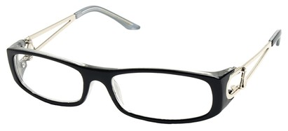 Angle of The Dinah in Black and Grey Frame, Women's and Men's