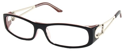 Angle of The Dinah in Black and Red Frame, Women's and Men's