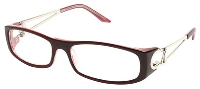 Angle of The Dinah in Red and Pink Frame, Women's and Men's