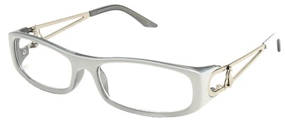Angle of The Dinah in White and Grey Frame, Women's and Men's